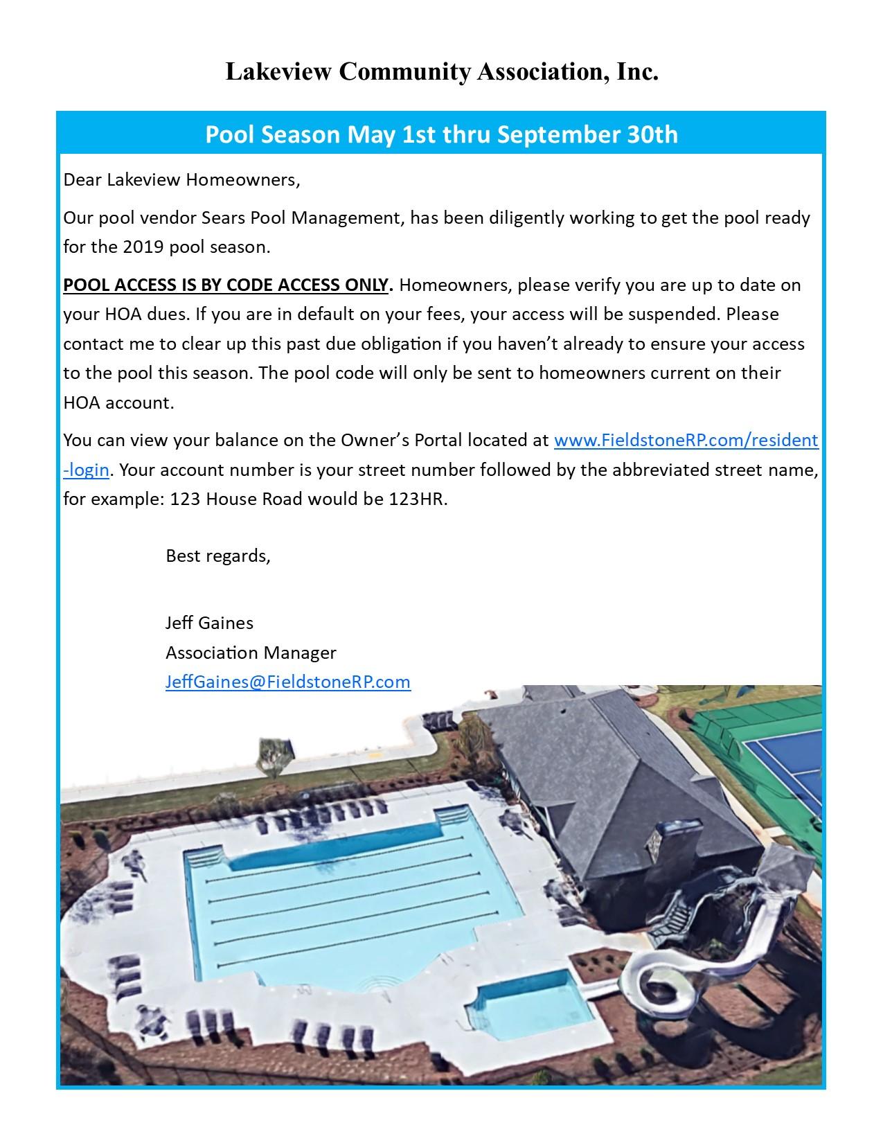2019 Pool Flyer